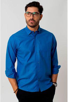 Camisa casual masculina tradicional oxford azul f02090a