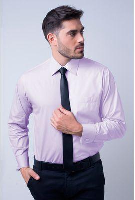 Camisa social masculina tradicional algodão fio 60 lilás f06798a