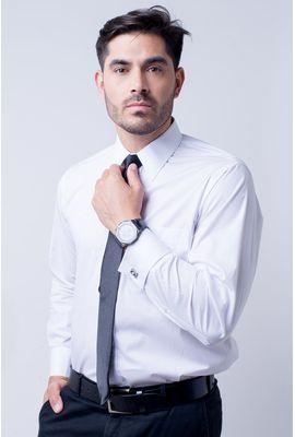 Camisa social masculina tradicional algodão fio 60 branco f06798a
