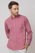 Camisa-casual-masculina-tradicional-sarjada-salmao-f01695a-1