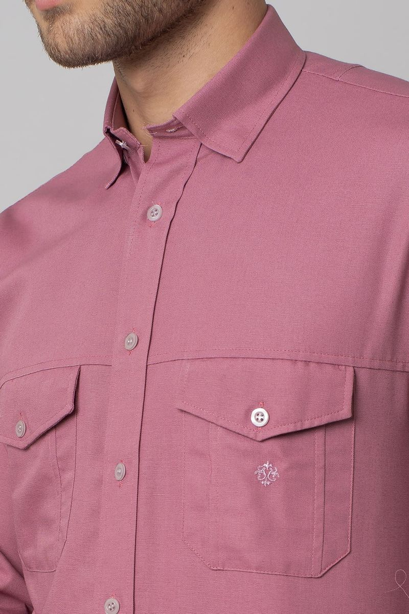 Camisa-casual-masculina-tradicional-sarjada-salmao-f01695a-3