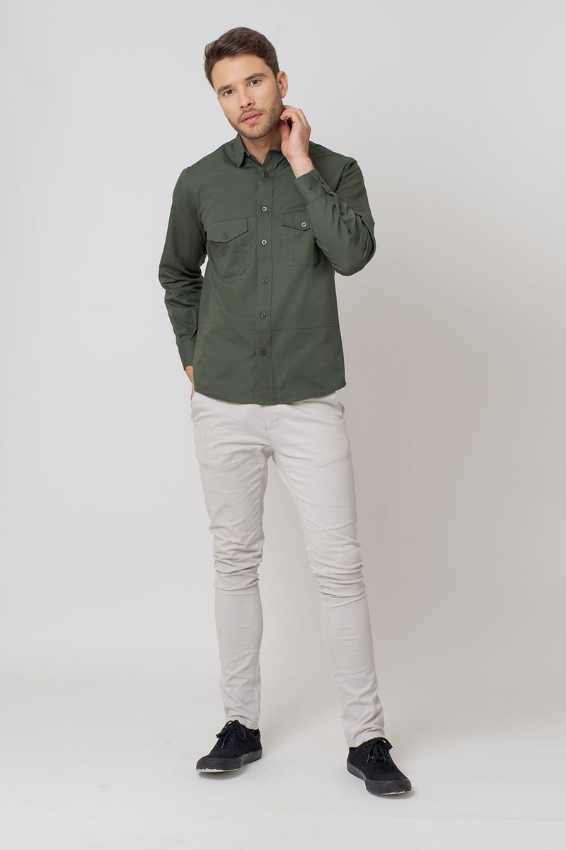 Camisa-casual-masculina-tradicional-sarjada-verde-f01695a-4