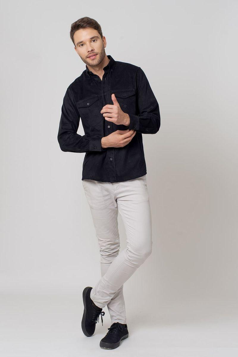 Camisa-casual-masculina-tradicional-veludo-preto-f02033a-4