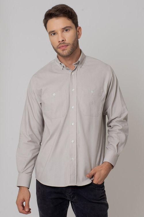 Camisa casual masculina tradicional veludo bege f02032a