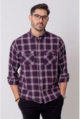 Camisa Casual Masculina Tradicional Flanela Bordo (137) 08206