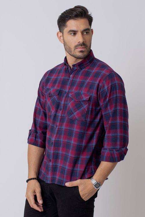 Camisa Casual Masculina Tradicional Flanela Vermelho (003) 08209