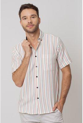 Camisa casual masculina tradicional microfibra salmão f07938a