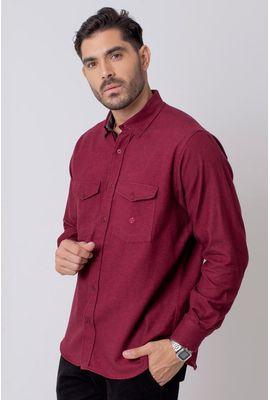 Camisa Casual Masculina Tradicional Flanela Vermelho 003 08204