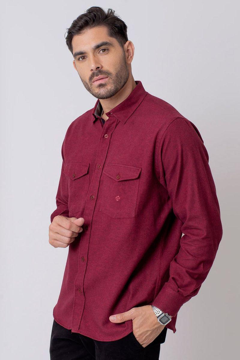 Camisa-Casual-Masculina-Tradicional-Flanela-Vermelho-08204-02