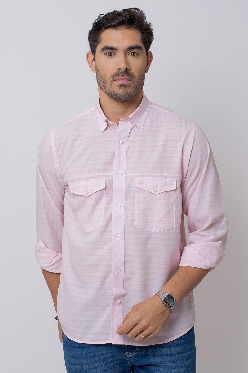 Camisa-Casual-Masculina-Tradicional-Microfibra-Rosa-08025-04