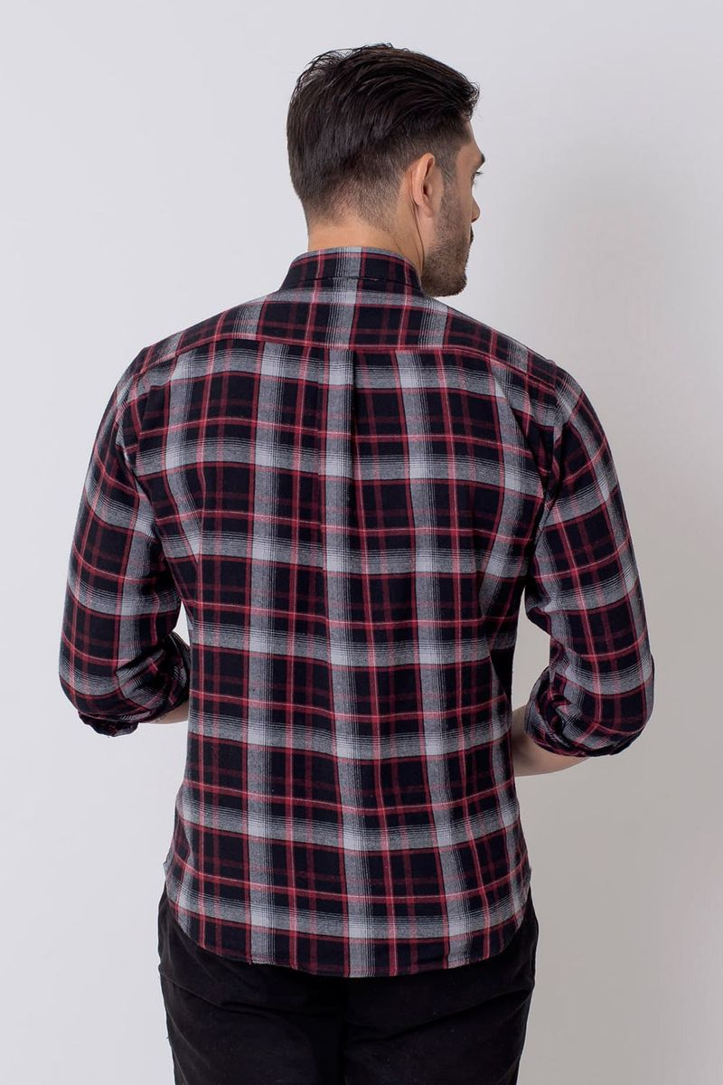 Camisa-Casual-Masculina-Tradicional-Flanela-Preto-08210-01