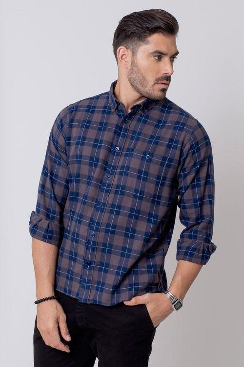 Camisa Casual Masculina Tradicional Flanela Grafite 017 08212
