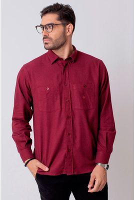 Camisa Casual Masculina Tradicional Flanela Vermelho 003 08205