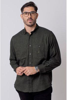Camisa Casual Masculina Tradicional Flanela Verde 016 08205