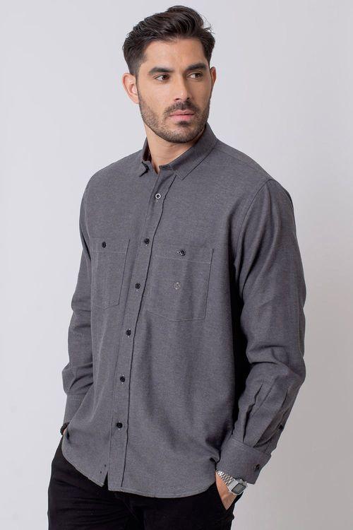 Camisa Casual Masculina Tradicional Flanela Grafite 017 08205