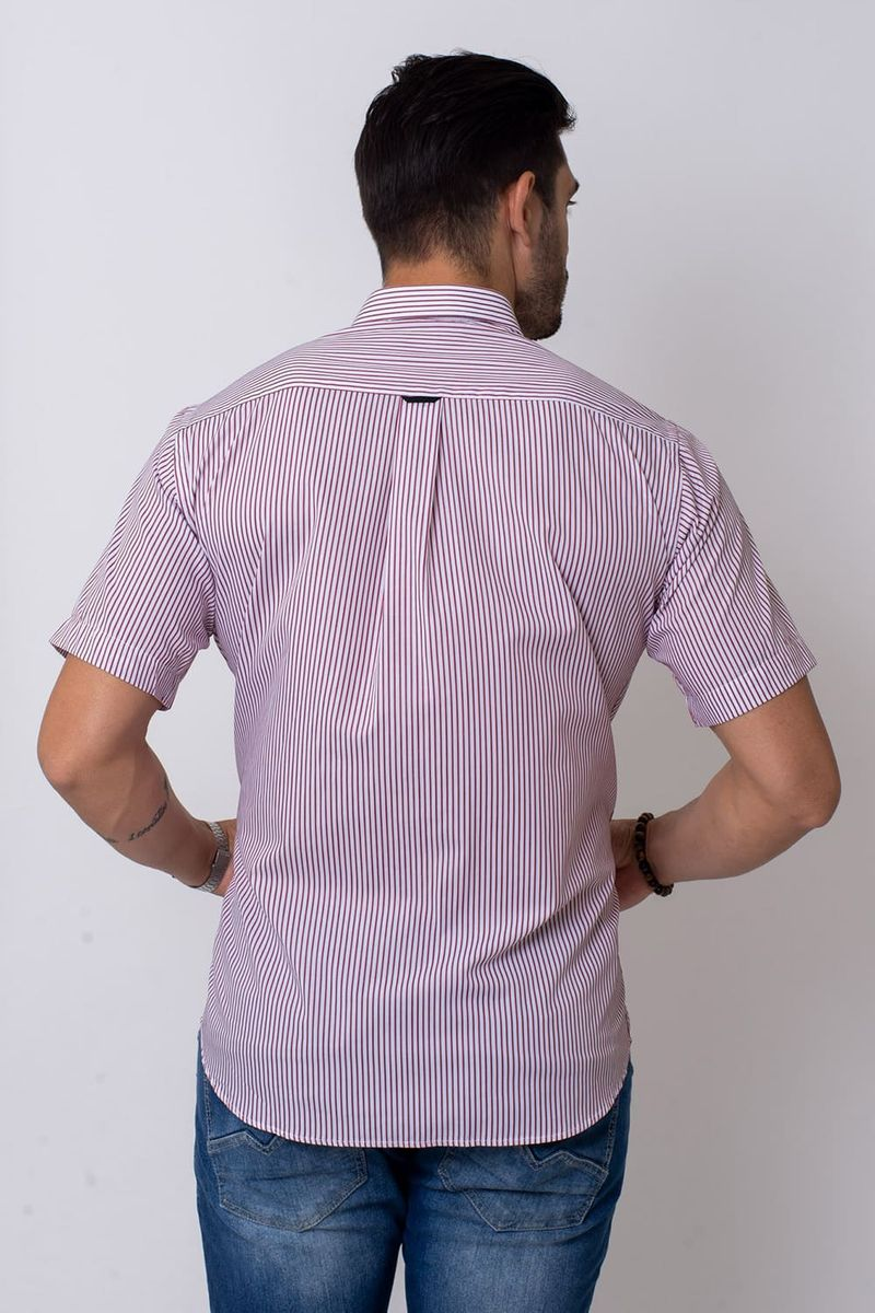 Camisa-Casual-Masculina-Tradicional-Algodao-Fio-80-Vermelho-05808-02
