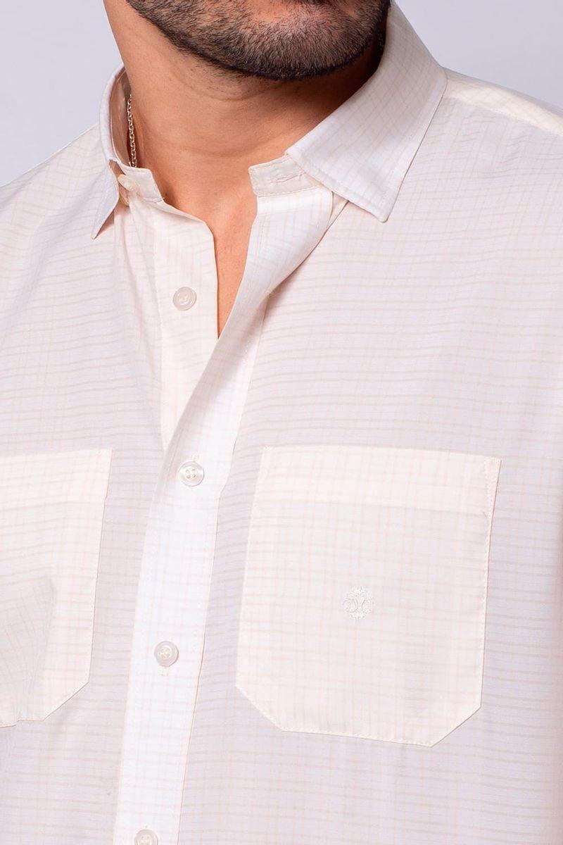 Camisa-Casual-Masculina-Tradicional-Microfibra-Creme-08032-01