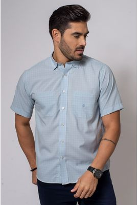 Camisa Casual Masculina Tradicional Microfibra Cinza 074 08032