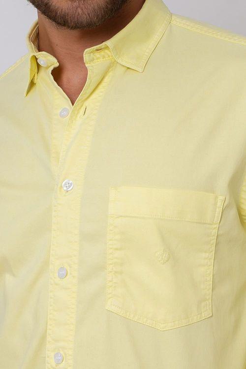 Camisa Casual Masculina Tradicional Tencel Creme 048 08352