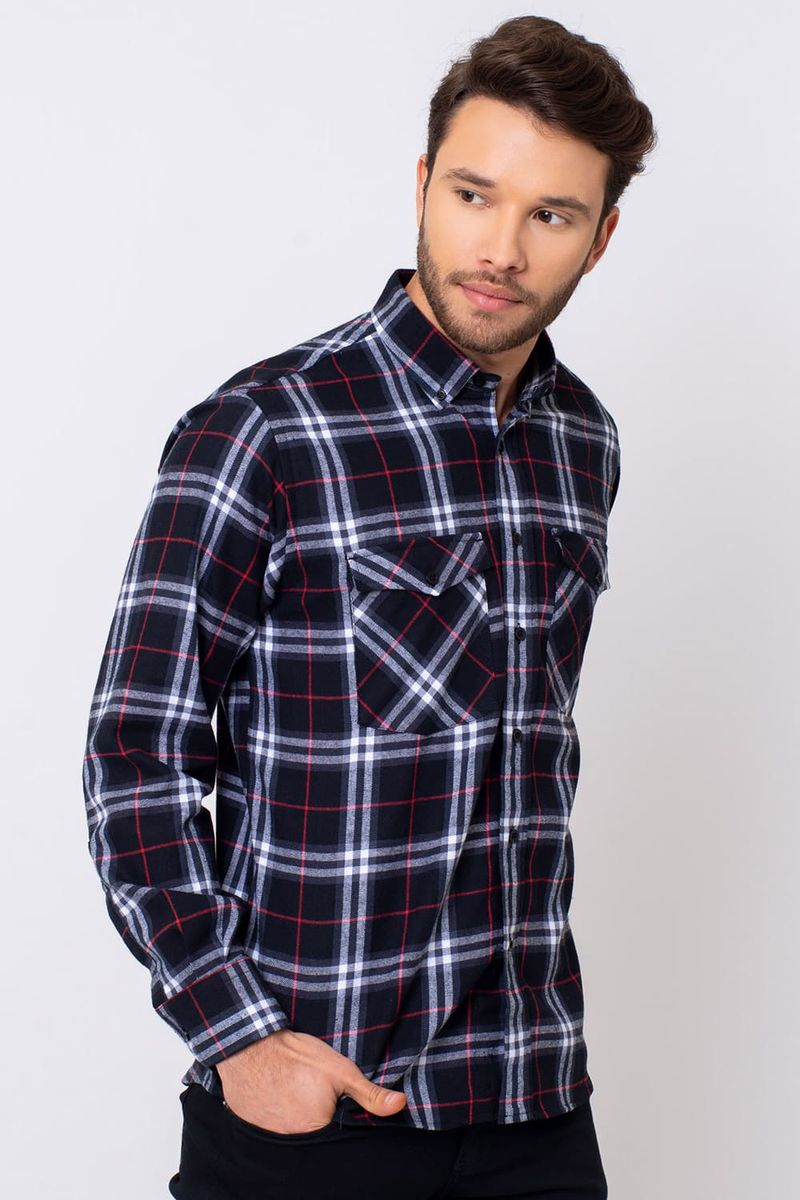 Camisa-Casual-Masculina-Tradicional-Flanela-Preto-08378-01