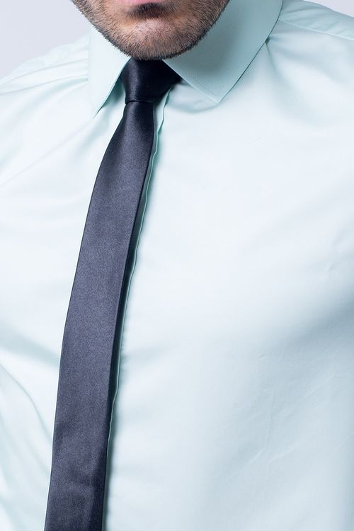 Camisa Social Masculina Tradicional Algodão Misto Verde Claro 026 02595