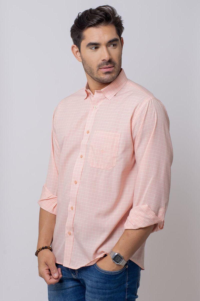 Camisa-Casual-Masculina-Tradicional-Microfibra-Salmao-08029-01
