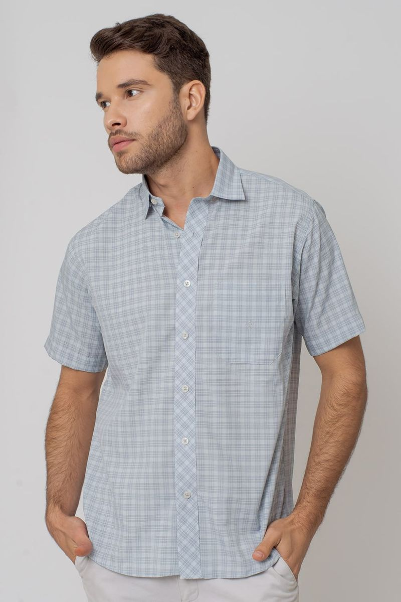 Camisa-Casual-Masculina-Tradicional-Microfibra-Cinza-08028-01