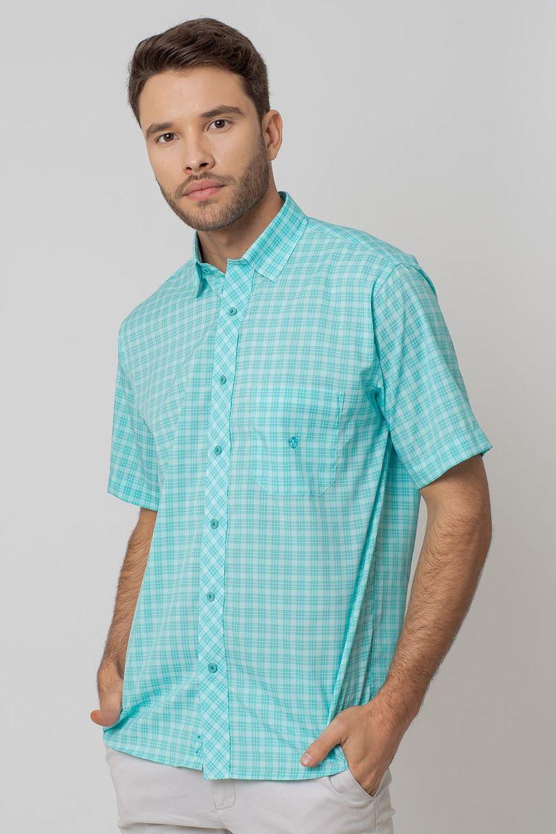 Camisa-Casual-Masculina-Tradicional-Microfibra-Verde-Claro-08028-01