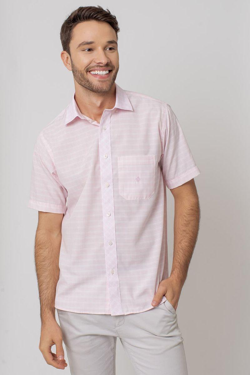 Camisa-Casual-Masculina-Tradicional-Microfibra-Rosa-08028-01