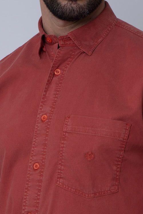 Camisa Casual Masculina Tradicional Tencel Bordo 088 08352