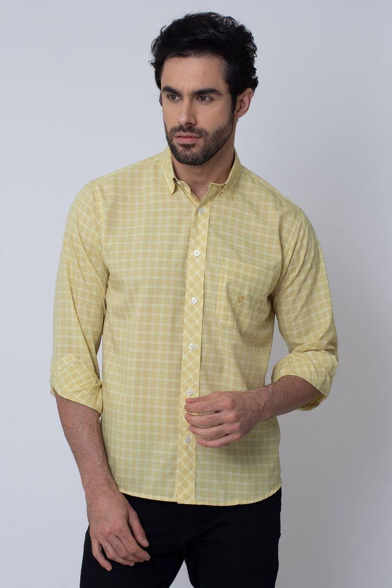 Camisa-Casual-Masculina-Tradicional-Microfibra-Creme-08026-04