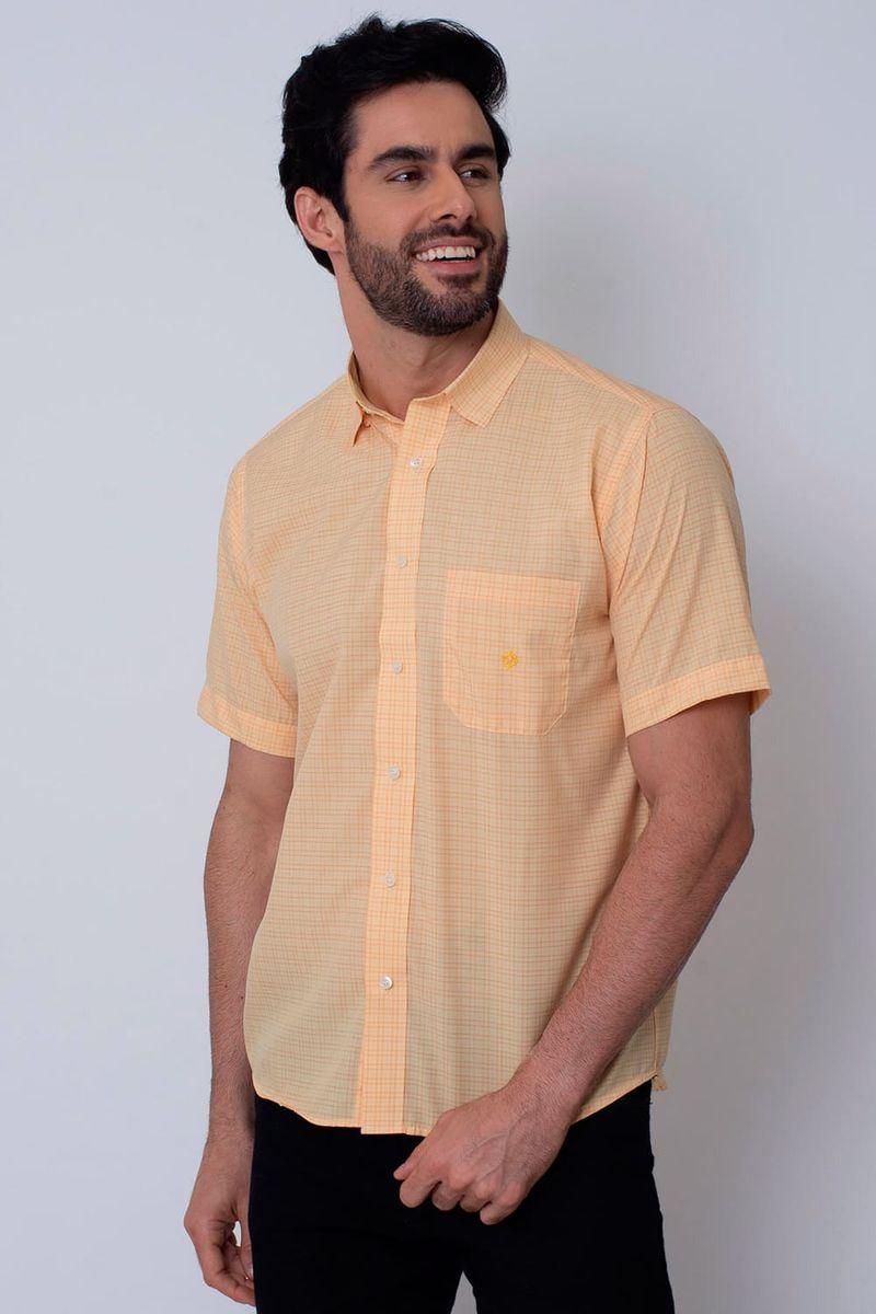 Camisa-Casual-Masculina-Tradicional-Microfibra-Laranja-08031-01