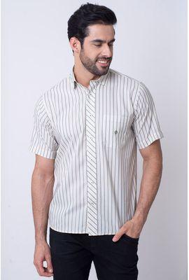 Camisa Casual Masculina Tradicional Microfibra Verde 151 08023