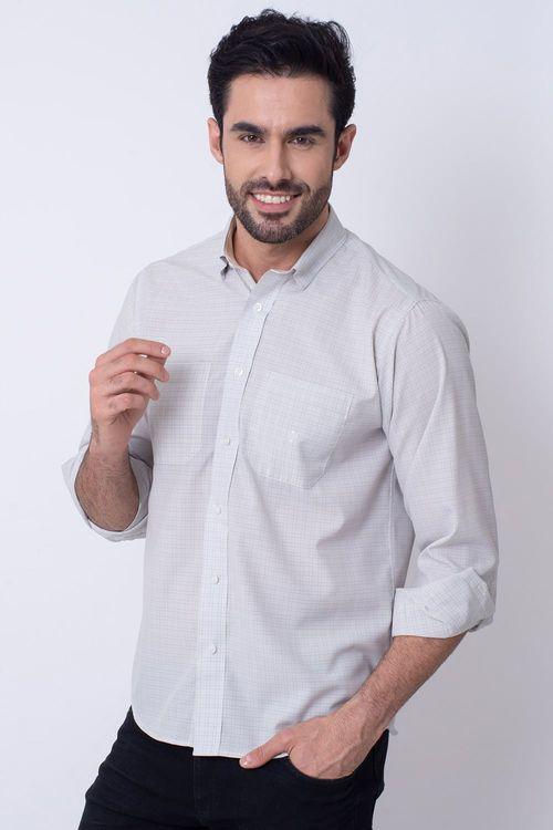 Camisa  Microfibra Cinza 039 08030