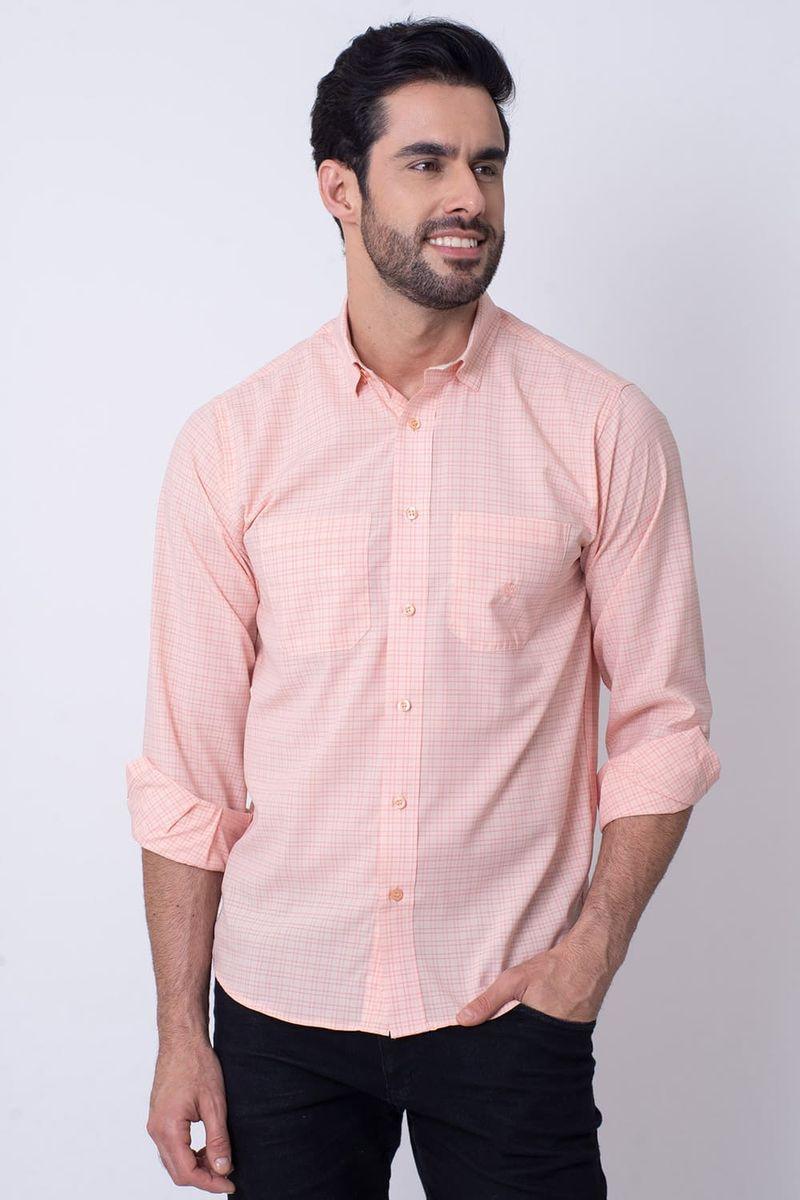 Camisa-Casual-Masculina-Tradicional-Microfibra-Salmao-08030-02