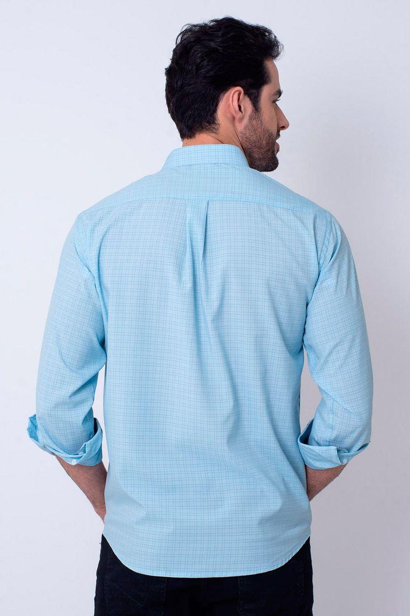 Camisa-Casual-Masculina-Tradicional-Microfibra-Azul-Claro-08030-01