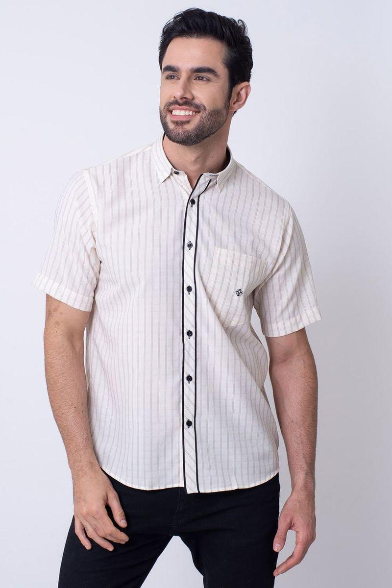 Camisa-Casual-Masculina-Tradicional-Microfibra-Creme-08034-01