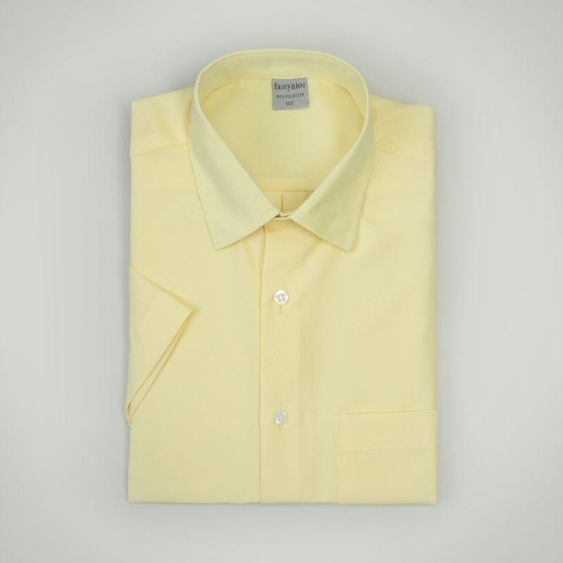 Camisa-Casual-Masculina-Tradicional-Microfibra-Amarelo-09292-01