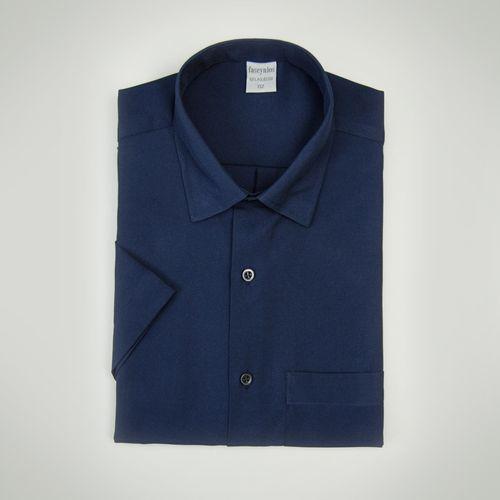 Camisa Casual Masculina Tradicional Microfibra Azul 052 09292