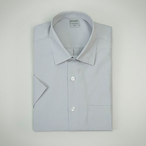 Camisa Casual Masculina Tradicional Microfibra Branco 074 09292