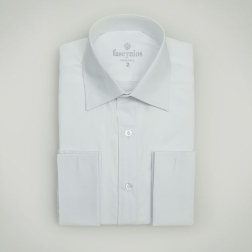 Camisa Social Masculina Tradicional Algodão Misto Branco 192 08689