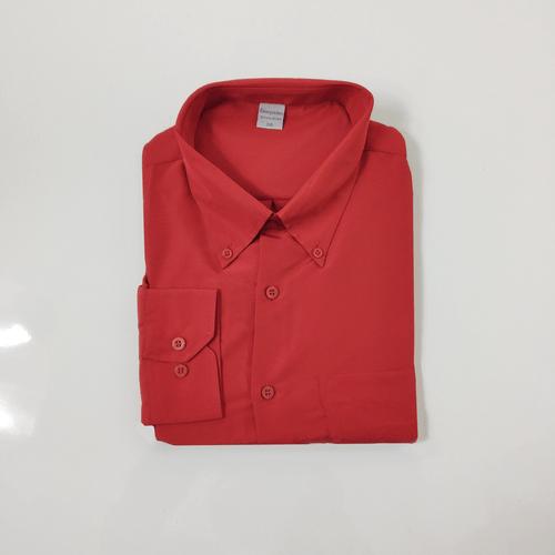 Camisa Casual Masculina Tradicional Microfibra Vermelho 003 01261