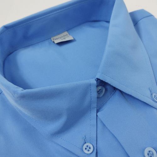 Camisa Casual Masculina Tradicional Microfibra Azul 068 01261