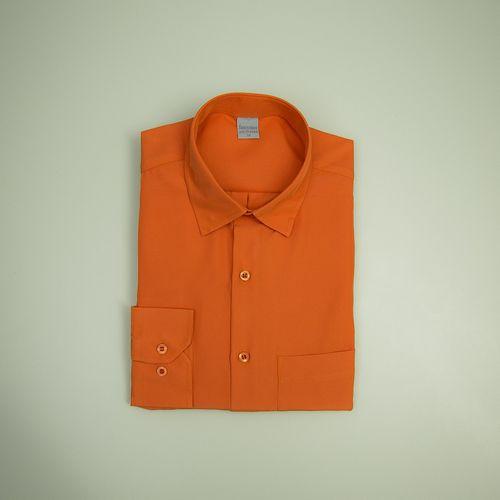 Camisa Casual Masculina Tradicional Microfibra Laranja 032 09494