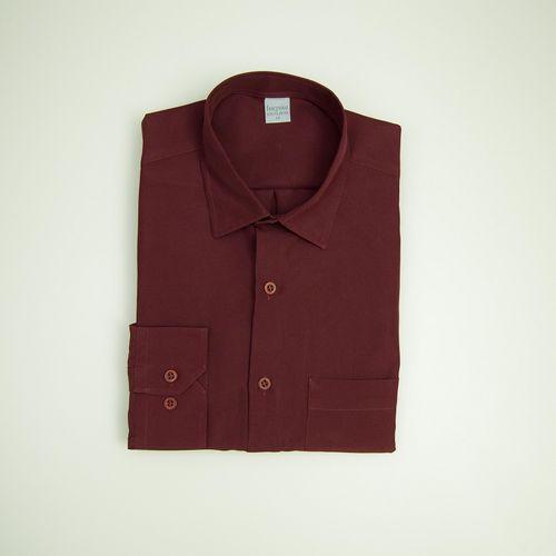 Camisa Casual Masculina Tradicional Microfibra Bordo 550 09494