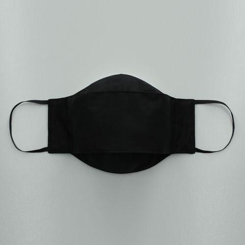 Máscara 3D Com Regulador em Puro Algodão Preta 002  09530