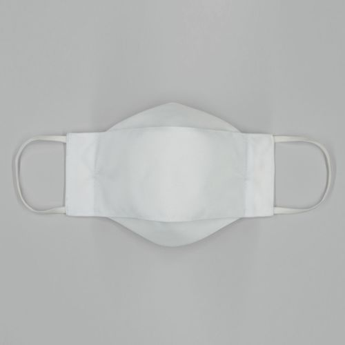 Máscara 3D em Puro Algodão Branca 005  09530