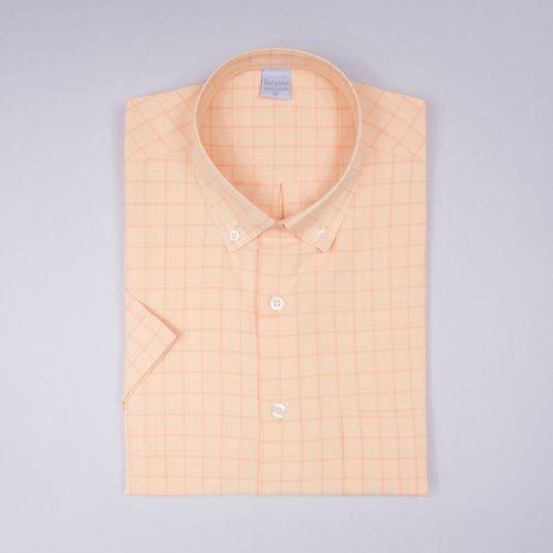 Camisa casual microfibra Laranja 019 09363