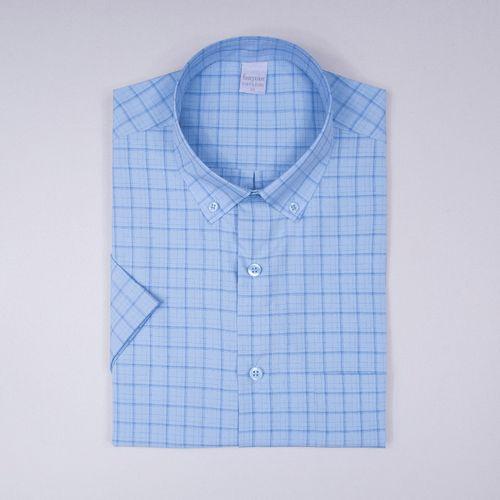 Camisa casual microfibra Azul Médio 007 09363