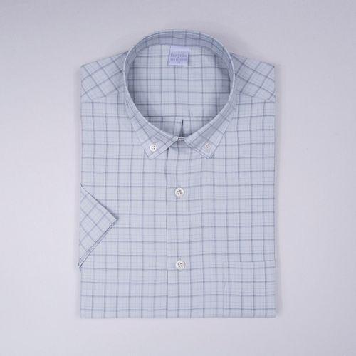 Camisa casual microfibra Cinza 015 09363
